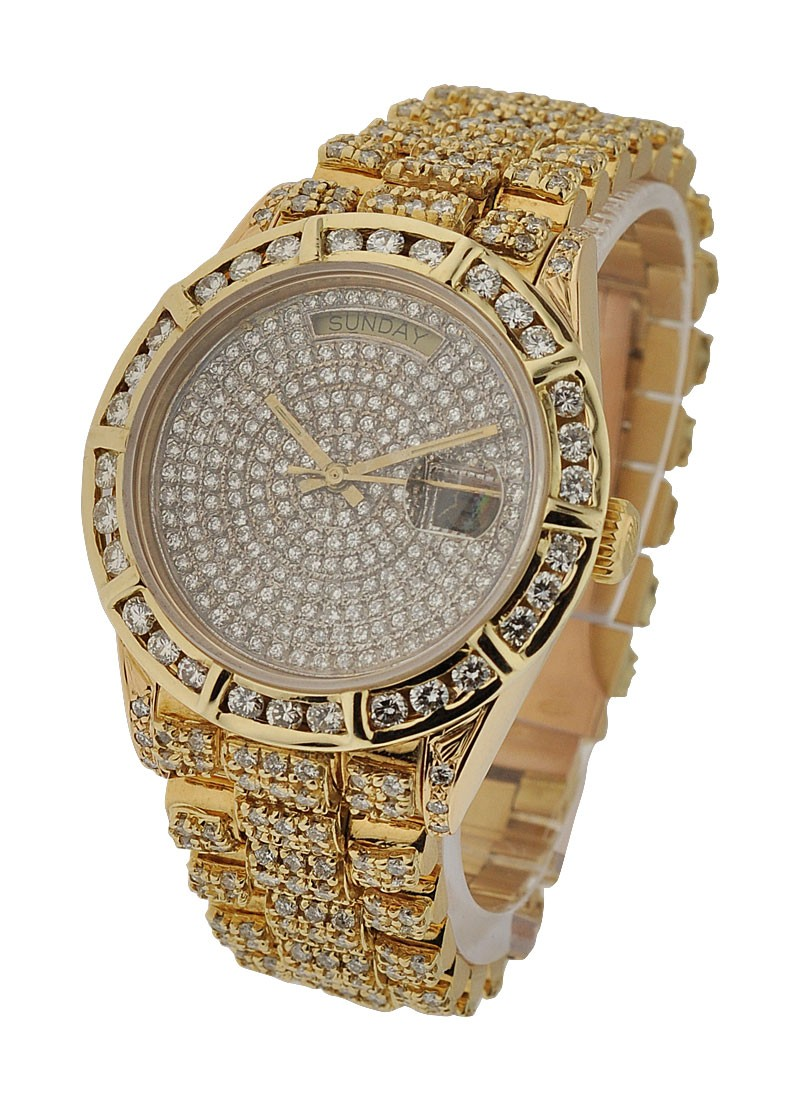 Pre-Owned Rolex President - 36mm - Yellow Gold - Diamond Bezel