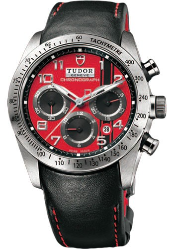42000D-Black leather strap with red leather lining