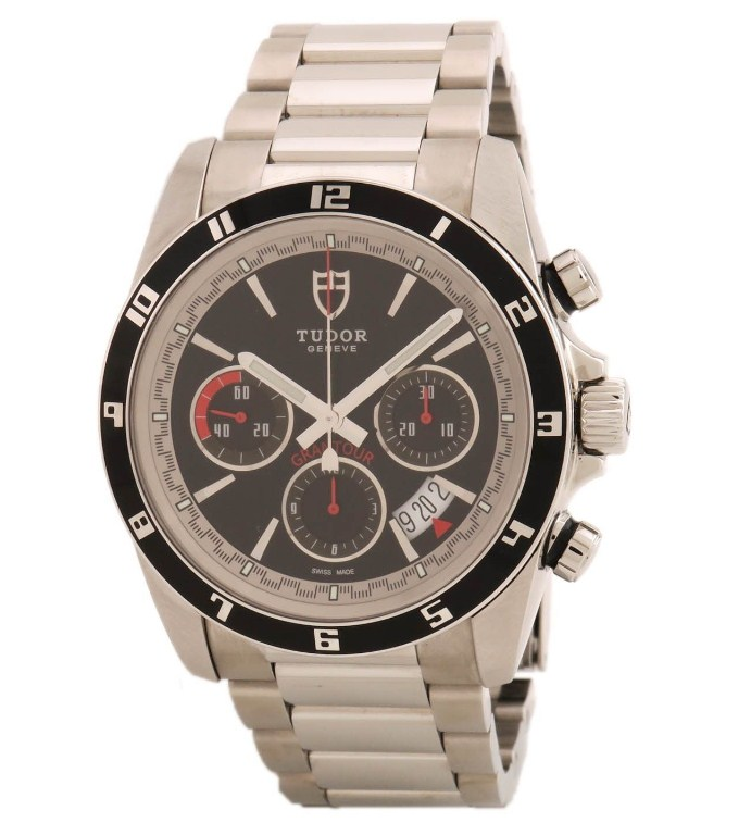 Tudor Grantour Chonograph Mens 42mm Automatic in Steel