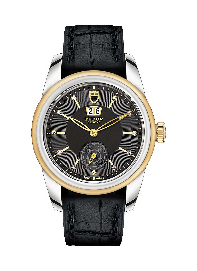 Tudor Glamour Double Date Automatic in Steel with Yellow Gold Bezel