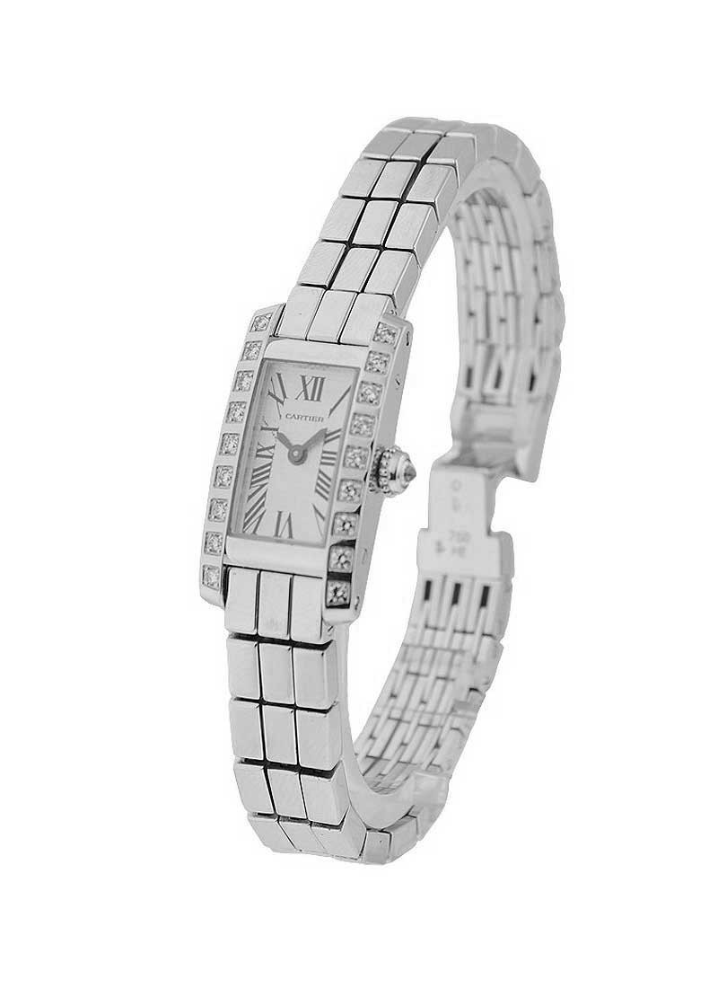 Cartier Lanieres   18KT White Gold Diamonds Case