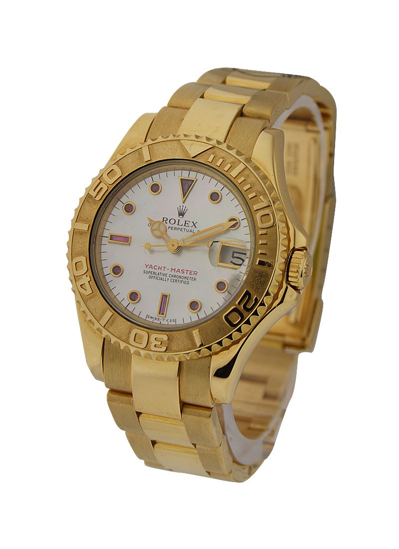 Rolex Used Yachtmaster Mid Size 36mm Automatic in Yellow Gold circa 1996