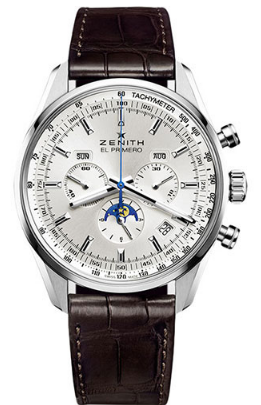 Zenith El Primero 410 Chronograph Mens 42mm Automatic in Steel
