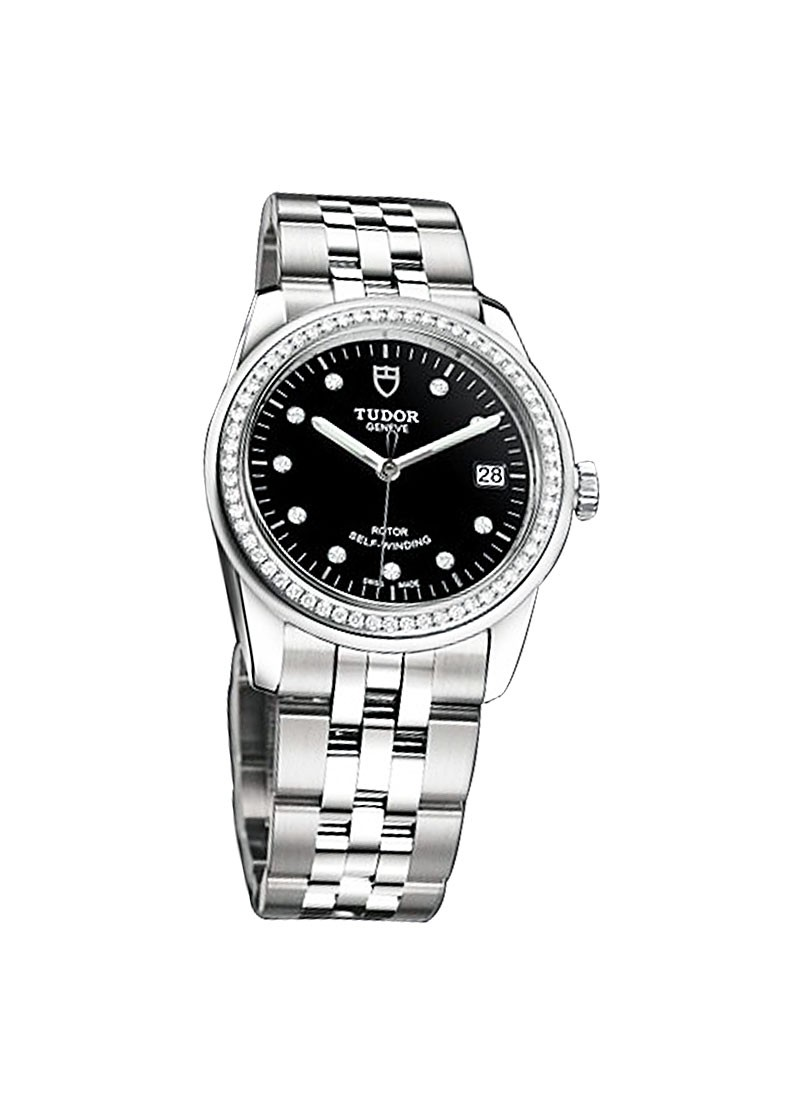 Tudor Glamour Date in Steel with Diamond Bezel