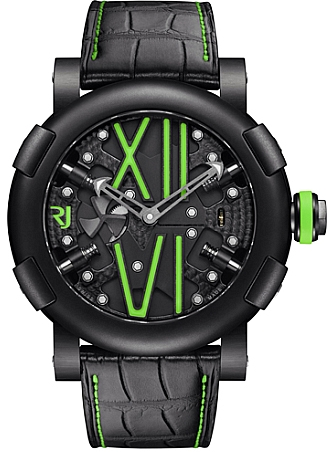 Romain Jerome Titanic DNA Steampunk Auto Green in Black PVD Steel