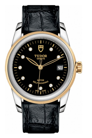 Tudor Glamour Date Mens 36mm Automatic in Steel and Yellow Gold