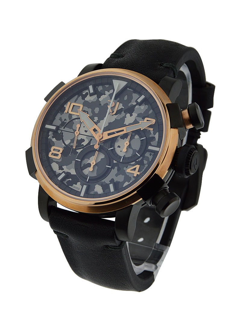 Romain Jerome Pinup DNA Black in Black PVD Steel with Rose Gold Bezel