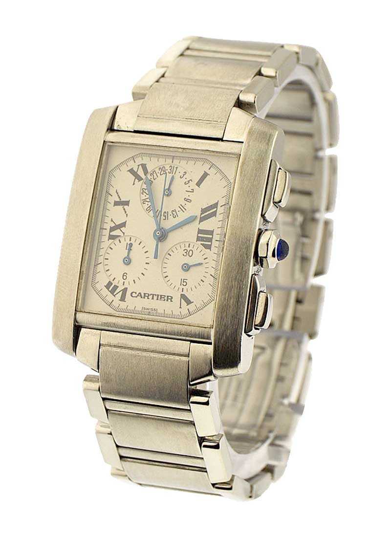 Cartier Tank Francaise Chronoflex in Steel