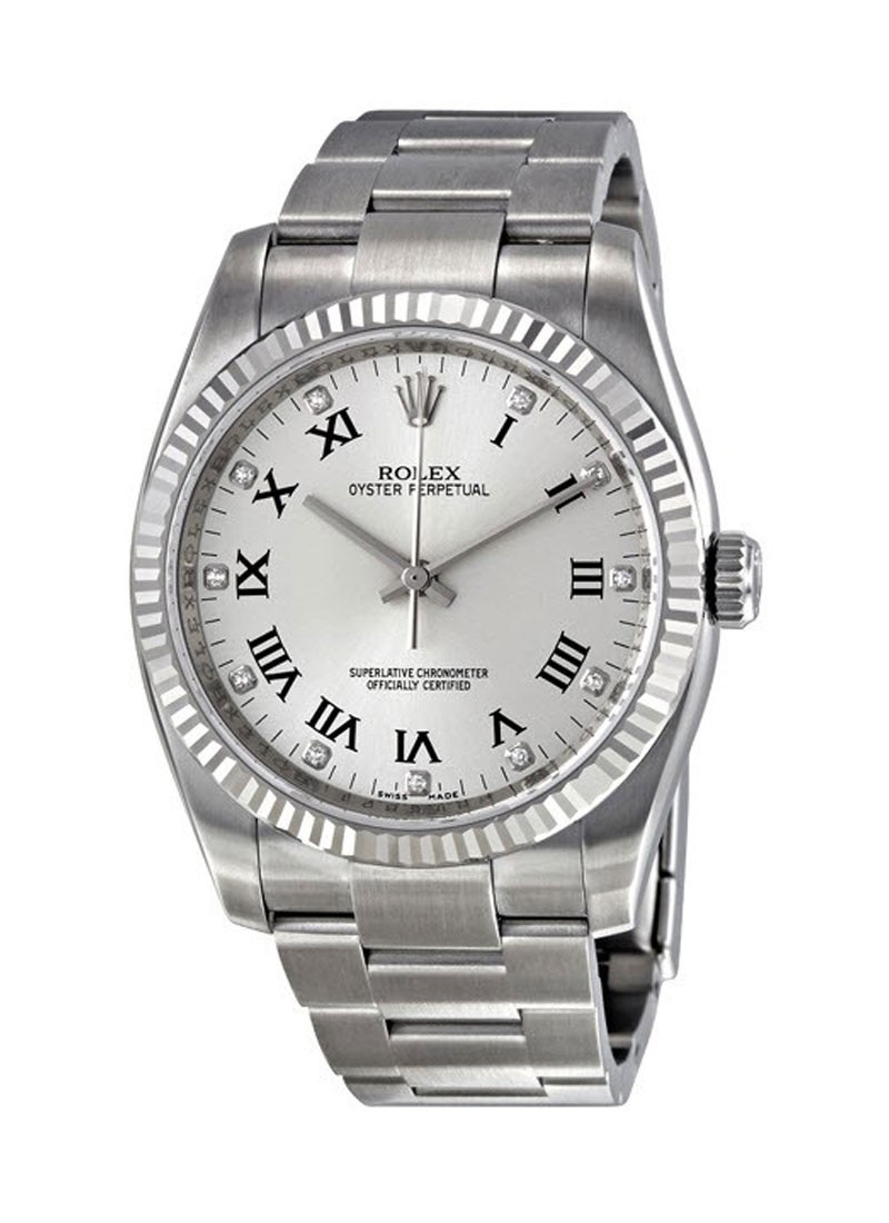 Rolex Unworn Oyster Perpetual No Date 36mm in Steel w/ Fluted Bezel