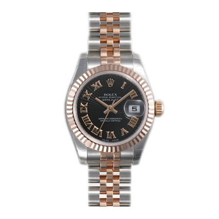 Rolex Unworn Datejust Ladies 26mm in Steel with Rose Gold Fluted Bezel