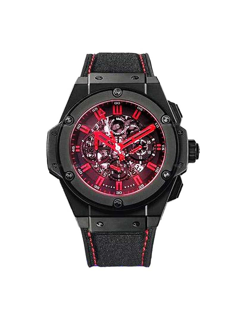 Hublot King Power APower Congo Red Crystal in Black Ceramic