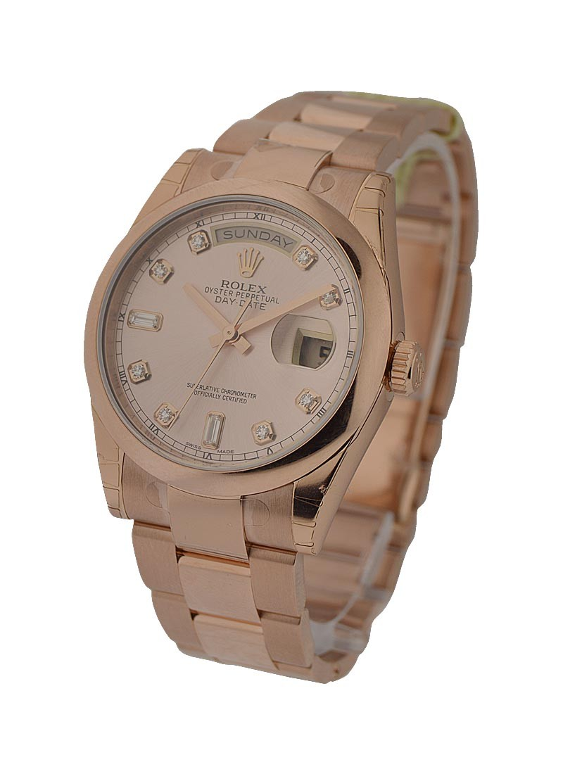 Rolex Unworn President Day Date 36mm in Rose Gold with Smooth Bezel