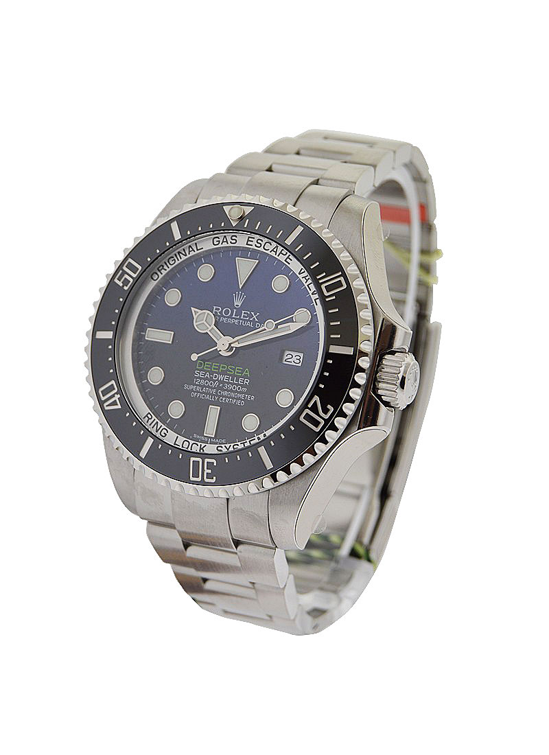 Rolex Unworn Sea Dweller Deep Sea in Steel with Black Bezel