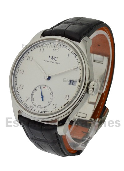 IWC Portuguese Hand Wound 8 Days in Steel