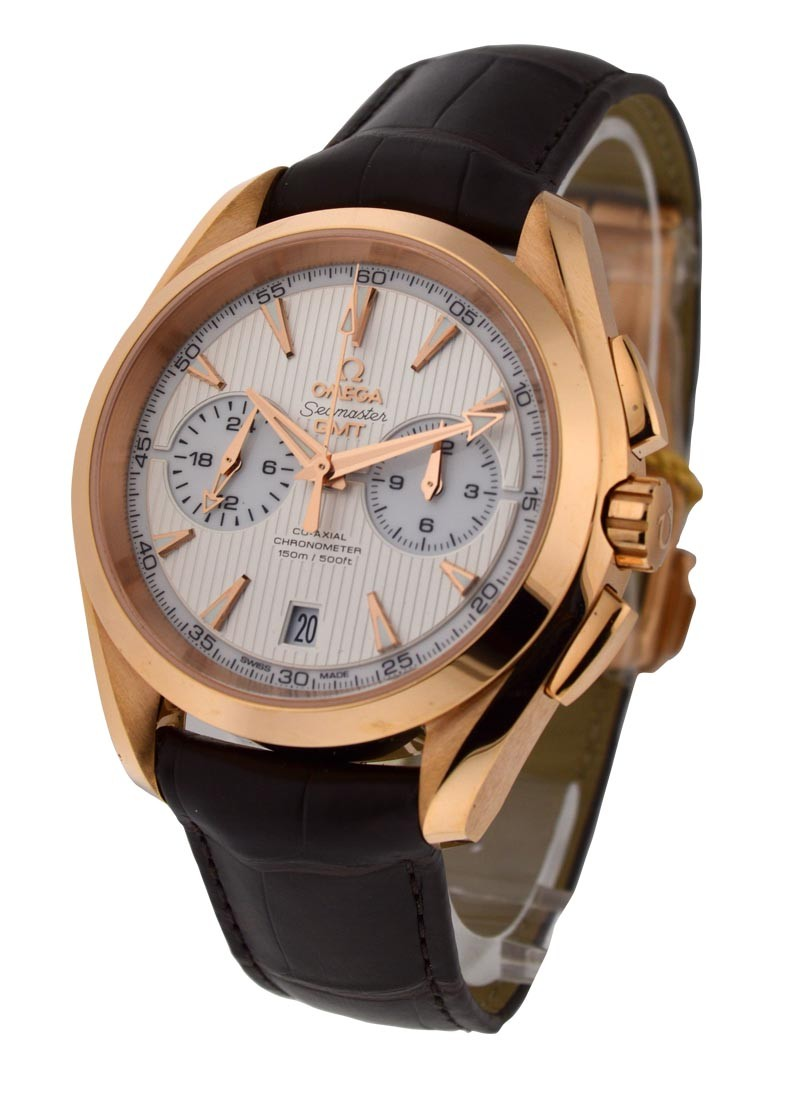 Omega Seamaster Aqua Terra 150M GMT Chronograph in Rose Gold