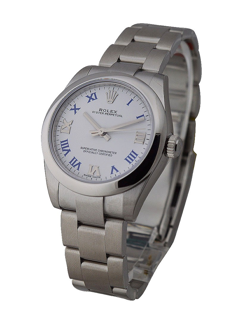 Rolex Unworn Mid Size Oyster Perpetual with Domed Bezel