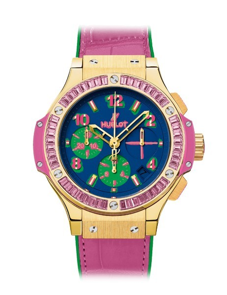 Hublot Big Bang 41mm Pop Art in Rose Gold with Pink Sapphire Bezel