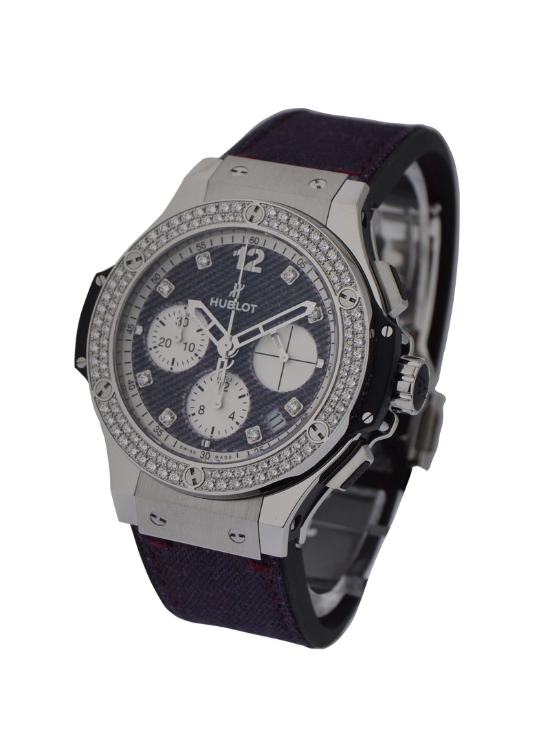 Hublot Big Bang Jeans in Steel with Diamond Bezel