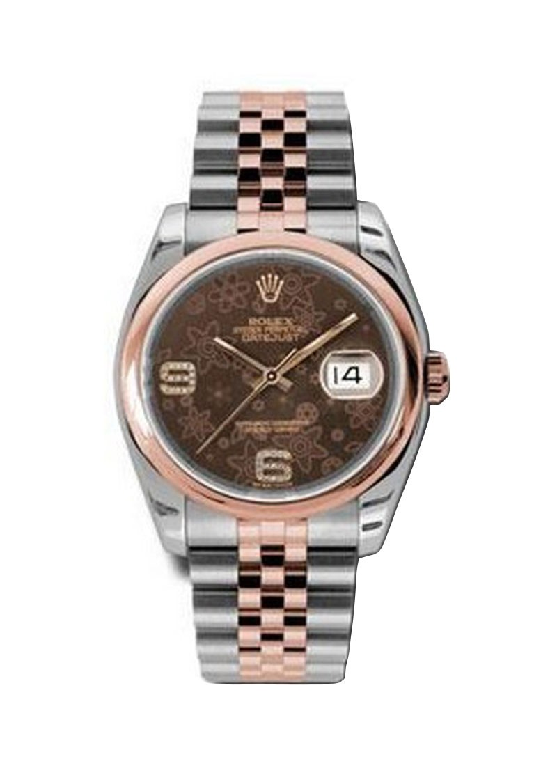 Rolex Unworn 2 Tone Rose Gold Datejust with Smooth Bezel