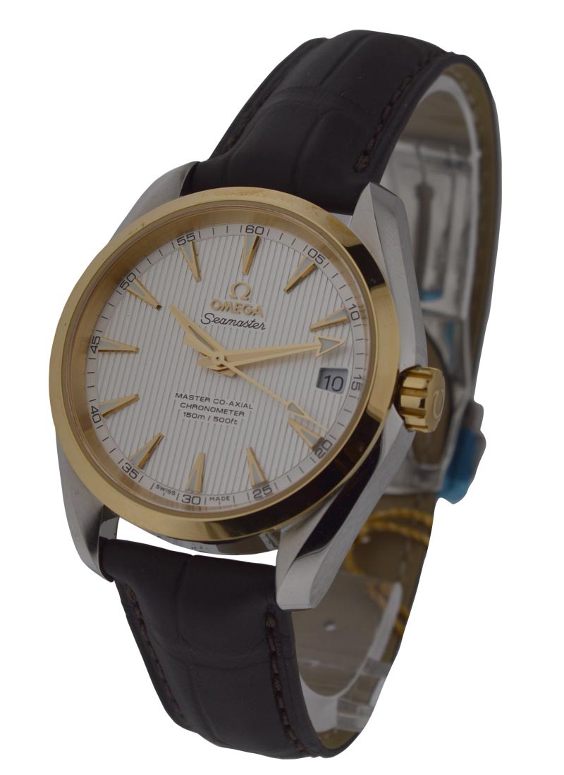 Omega Seamaster Aqua Terra 150M Omega Master in Steel with Yellow Gold Bezel