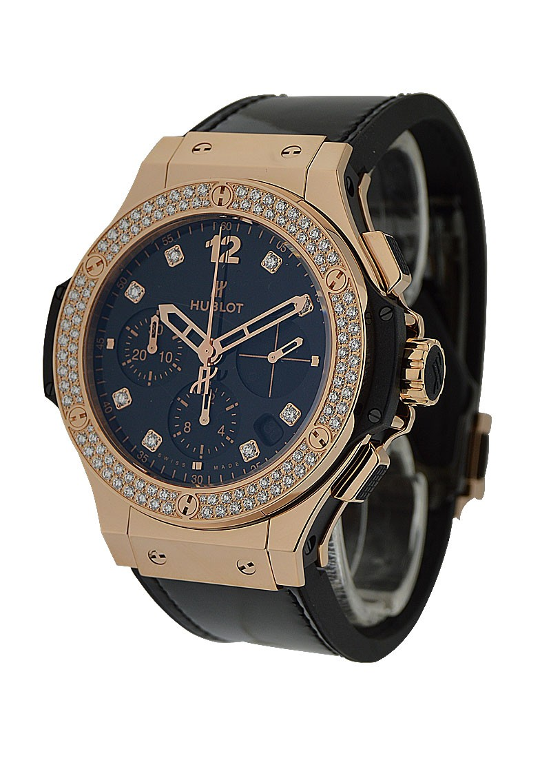Hublot Big Bang Shiny Rose Gold with 2 Row Diamond Bezel