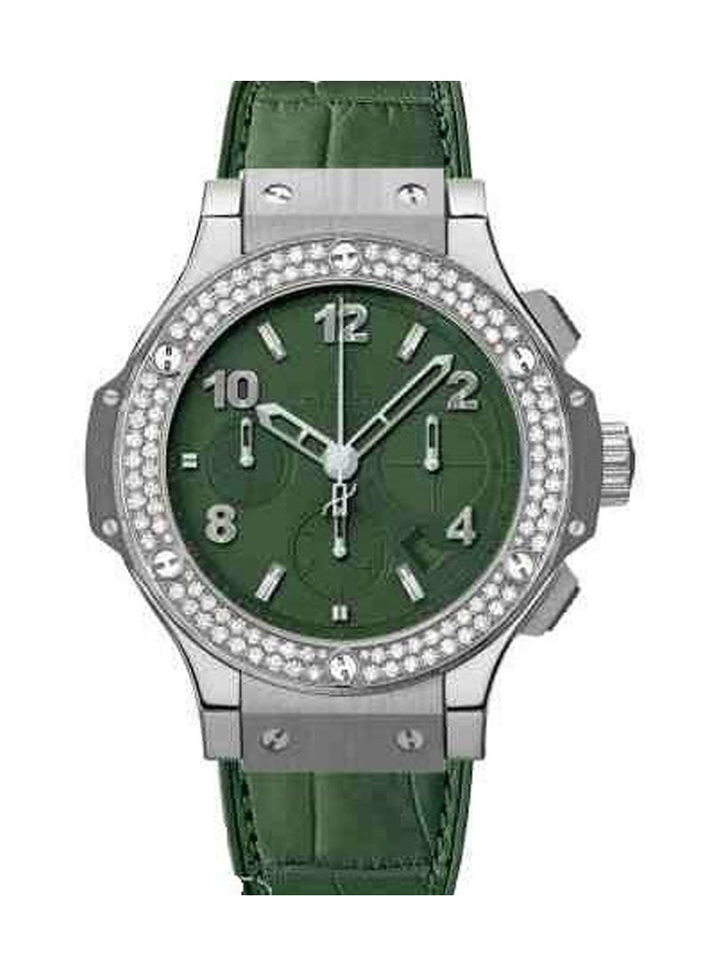 Hublot 41mm Tutti Frutti Big Bang with Dark Green Dial and Diamond Bezel