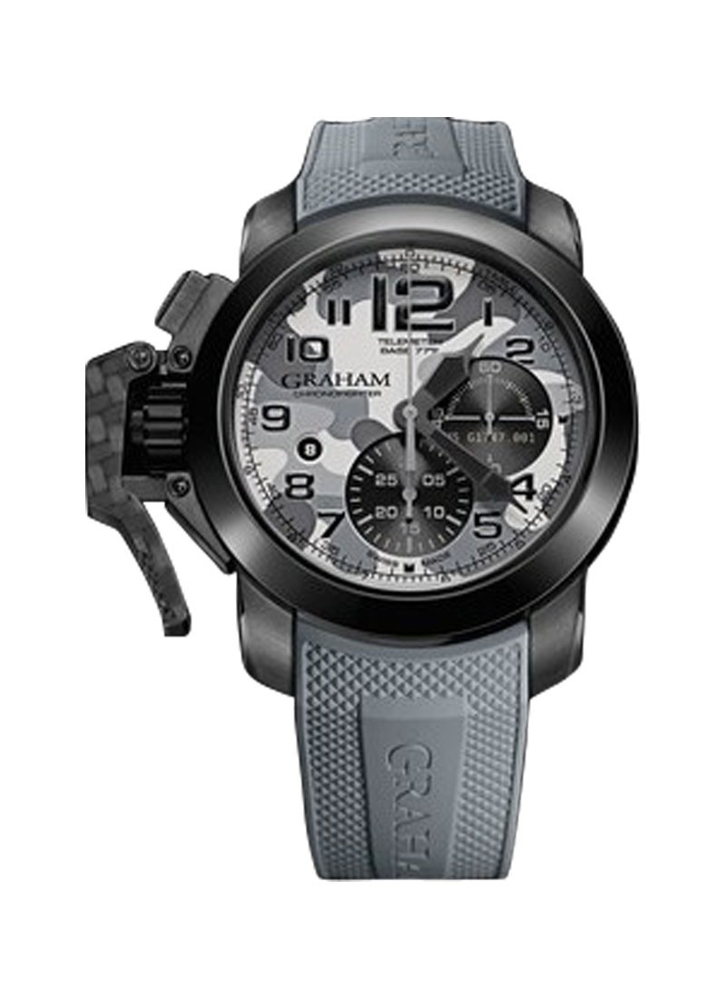 Graham Chronofighter Oversize Black Arrow in Black PVD Steel