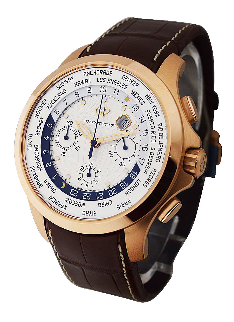 Girard Perregaux World Time Chronograph - Rose Gold