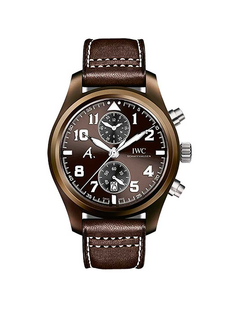 IWC Pilot Chronograph The Last Flight 46mm Automatic in Brown Ceramic and Titanium