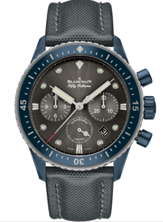 Blancpain Fifty Fathoms Bathyscaphe Ocean Commitment in Blue Ceramic Case