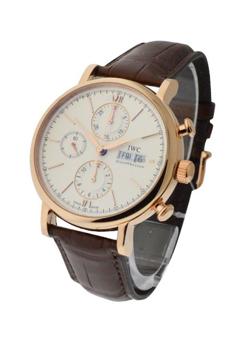 IWC Porofino Chronograph 42mm in Rose Gold
