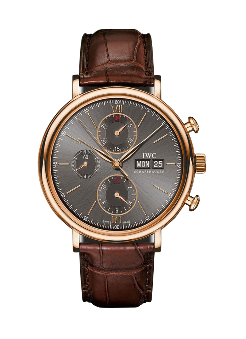 IWC Porofino Chronograph 42mm Automatic in Rose Gold