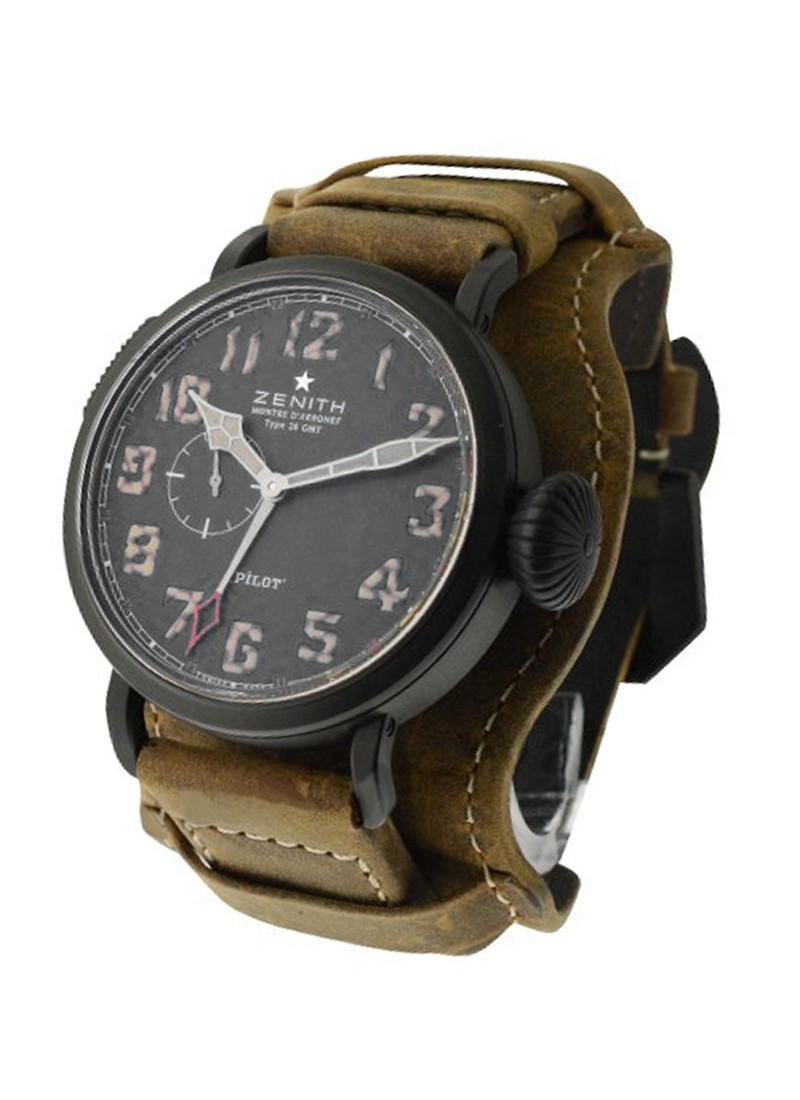 Zenith Pilot Type 20 GMT 48mm in Titanium Matte Black DLC