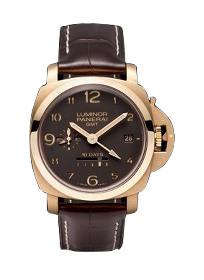 Panerai PAM 493   1950 10 Days GMT Aspen Automatic in Rose Gold   10 pieces