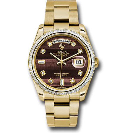 Rolex Unworn Day-Date 36mm in Yellow Gold with Diamond Bezel
