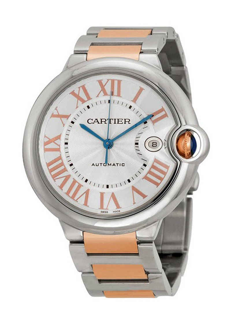 Cartier Ballon Bleu 42mm  in Steel and Rose Gold