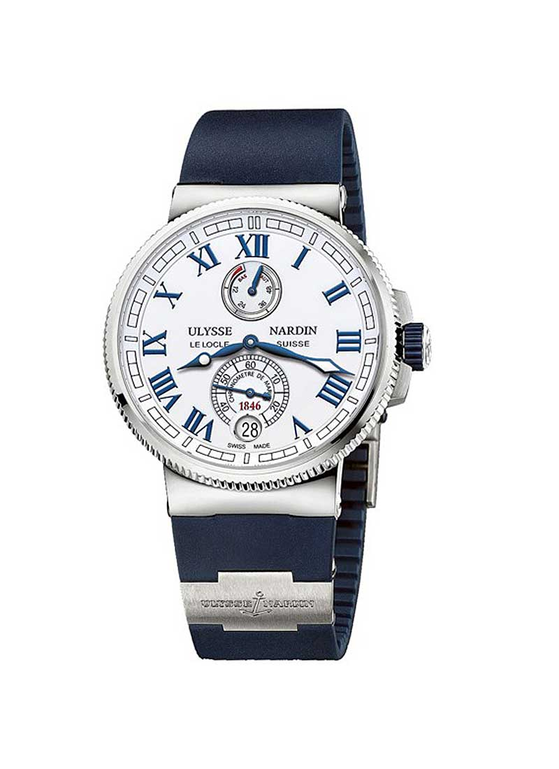 Ulysse Nardin Marine Chronometer Mens 43mm Automatic in Steel