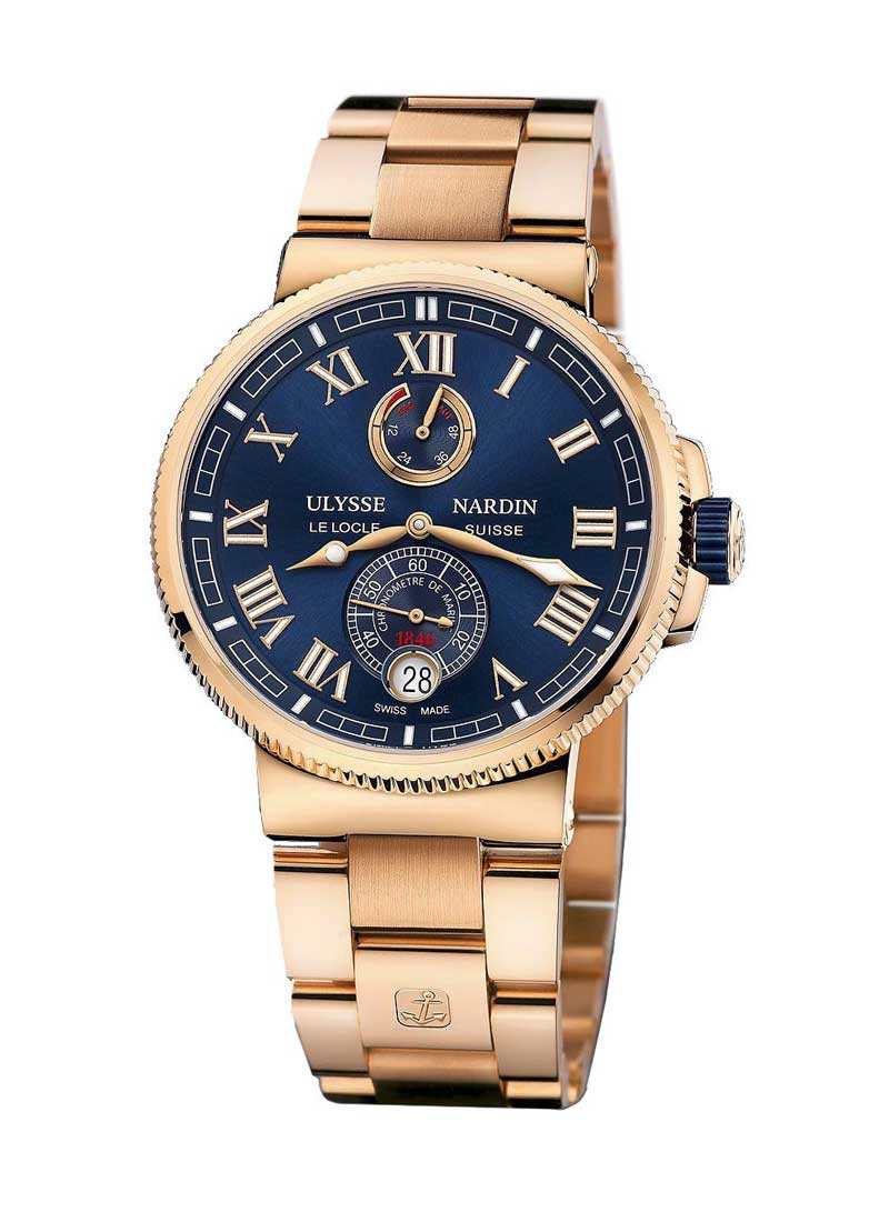 Ulysse Nardin Marine Chronometer 43mm Automatic in Rose Gold