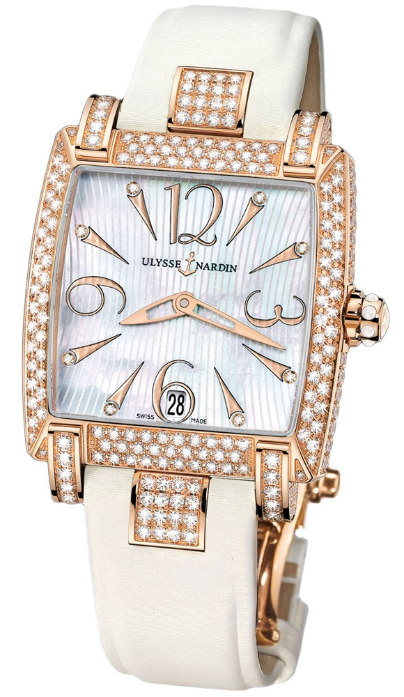 Ulysse Nardin Caprice Automatic in Rose Gold with Diamond Bezel