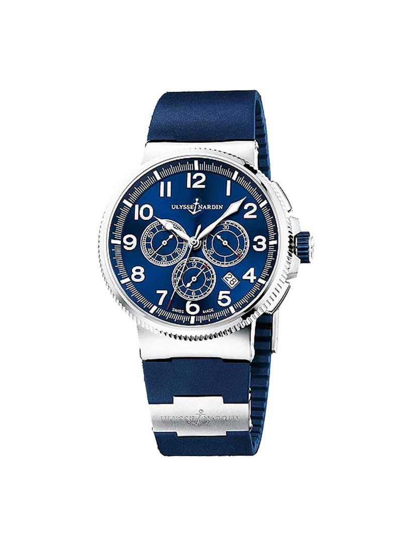 Ulysse Nardin Marine Chronograph Mens 43mm in Steel