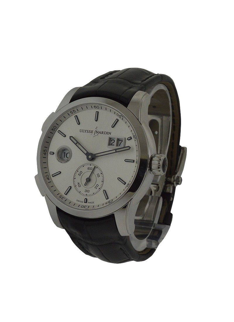 Ulysse Nardin Dual Time Manufacture 42mm Automatic in Steel