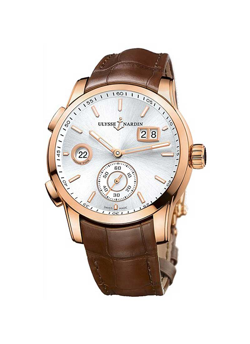 Ulysse Nardin Dual Time Manufacture 42mm  in Rose Gold