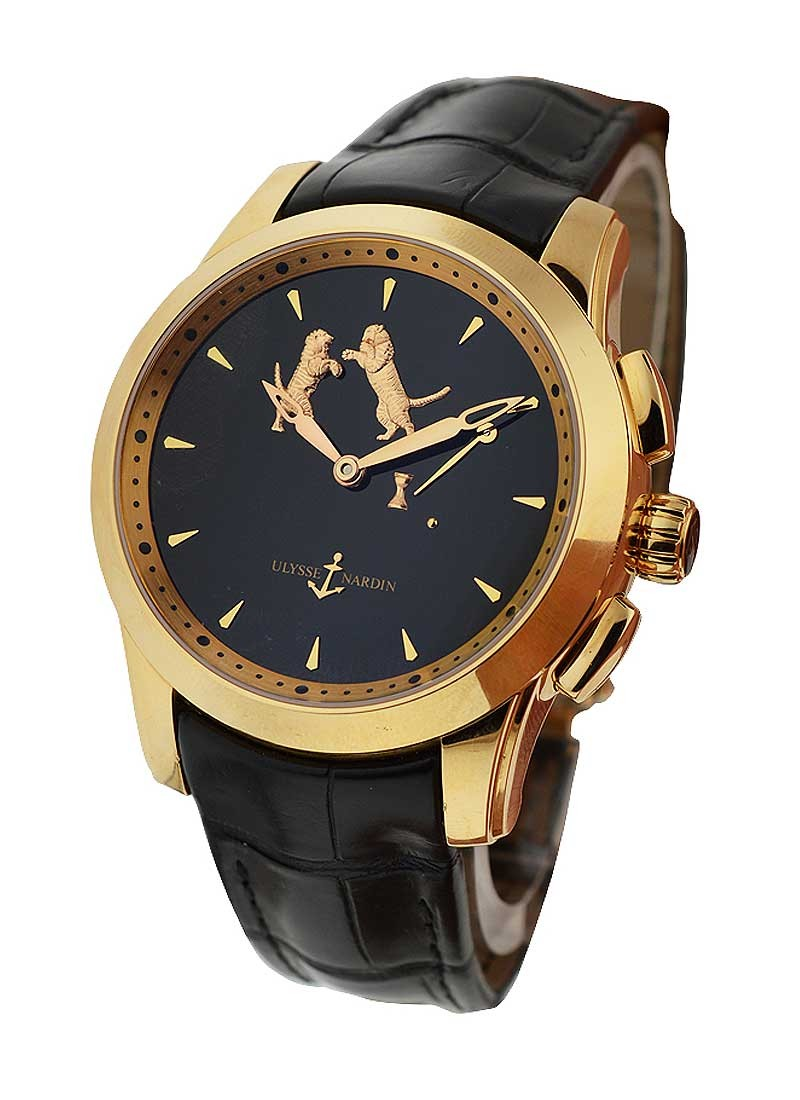 Ulysse Nardin Tiger Hourstriker 43mm in Rose Gold