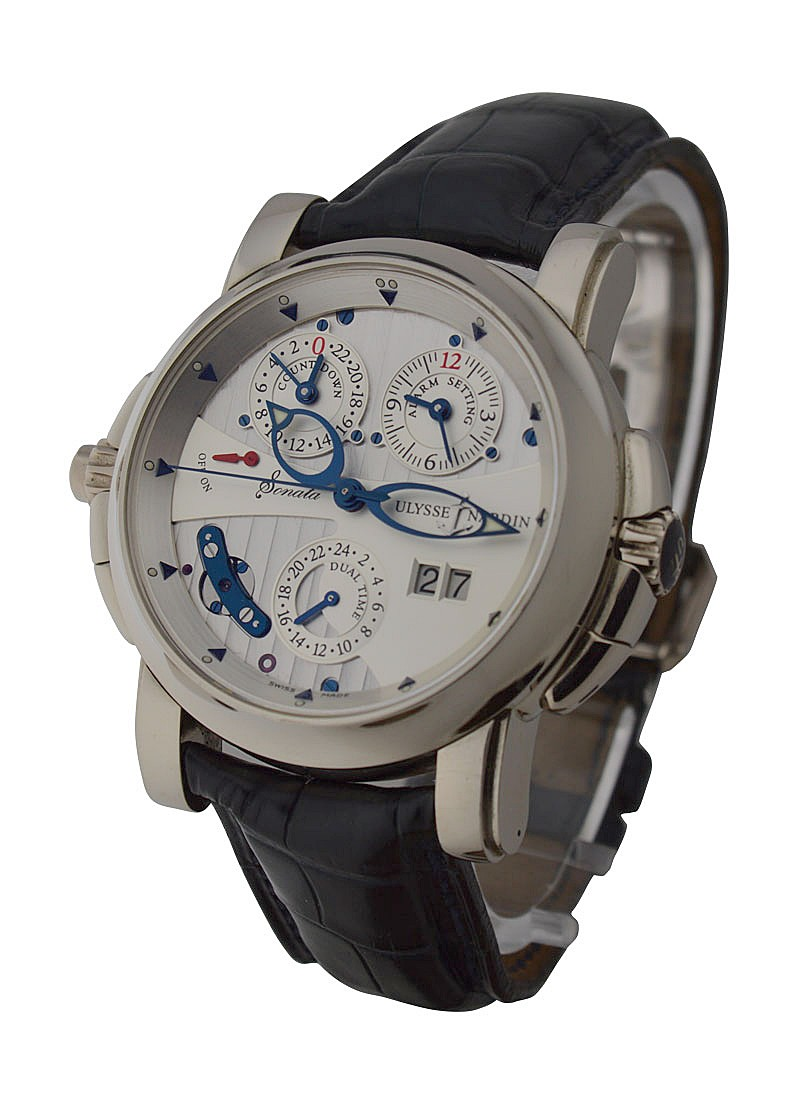 Ulysse Nardin Sonata Mens 42mm Automatic in White Gold