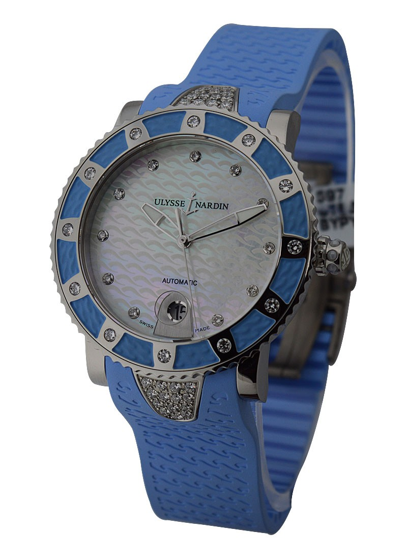 Ulysse Nardin Lady Marine Diver with Diamonds in Blue
