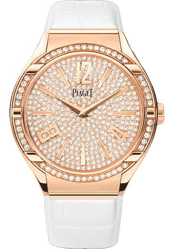 Piaget Polo Fortyfive Quartz in Rose Gold with Diamond Bezel