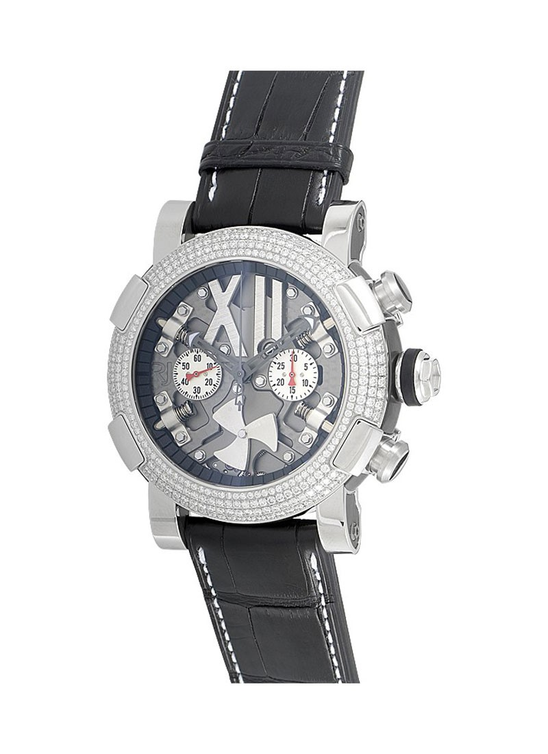 Romain Jerome Steampunk Mens 50mm Automatic   Steel   Diamond Bezel