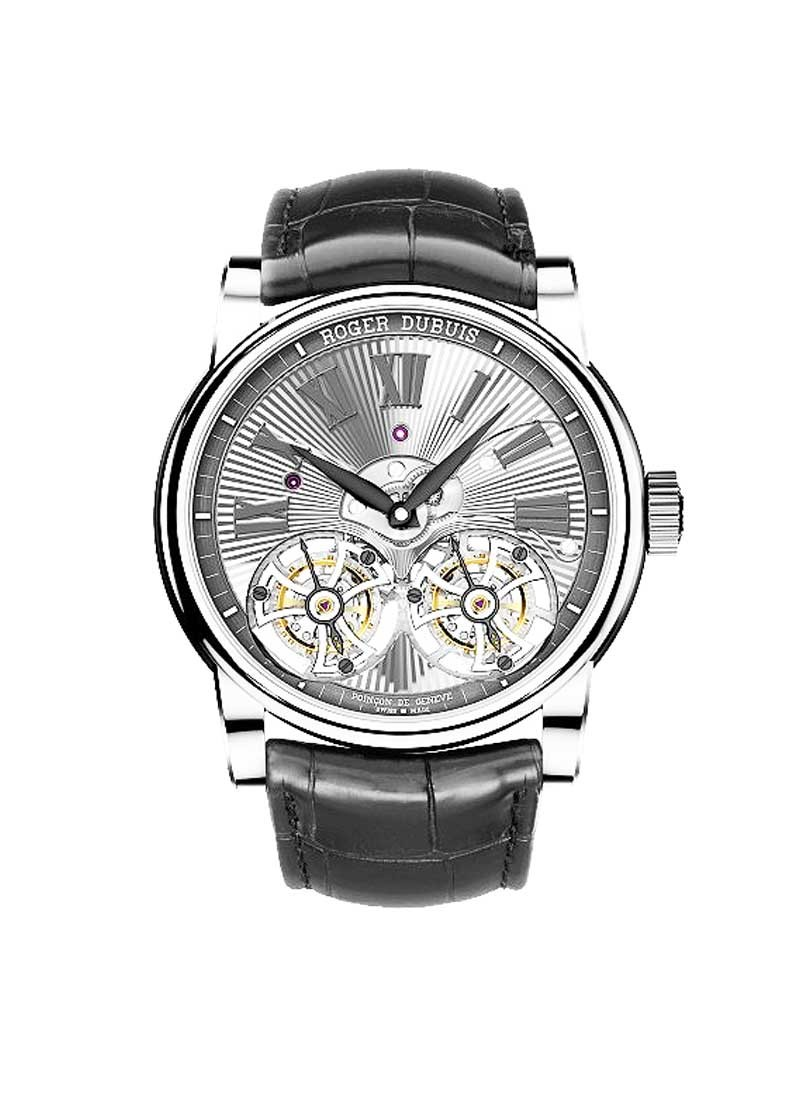 Roger Dubuis Hommage Double FLying Tourbillon Manual in White Gold