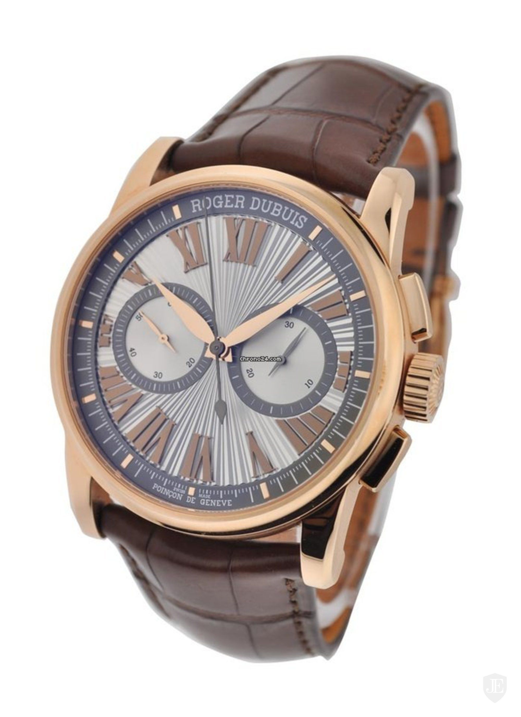 Roger Dubuis Hommage Mens Chronograph  42mm Automatic in Rose Gold