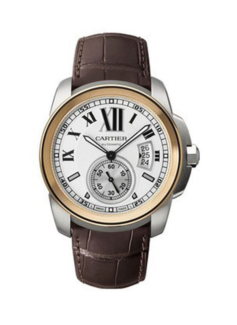 Cartier Calibre de Cartier Diver 42mm Automatic in Steel with Rose Gold Bezel